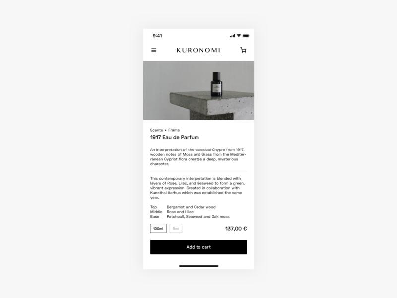 E-Commerce Shop Single Item shop mobile minimal ui daily ui