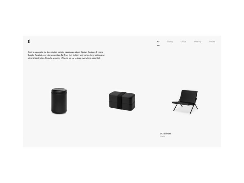 Grod Redesign e-commerce e-shop shopping website
