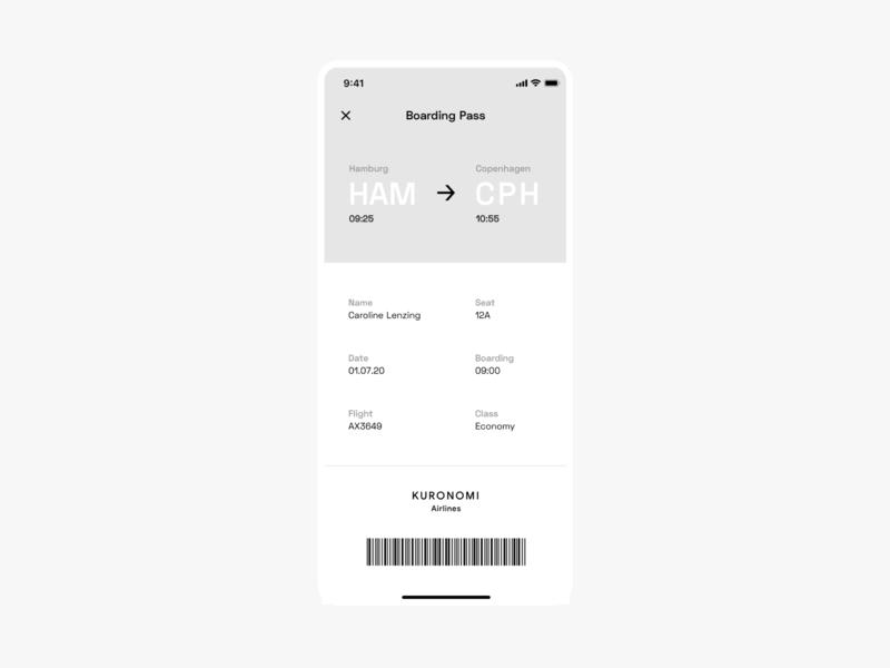 Flight Ticket UI ticket flight mobile ui dailyui