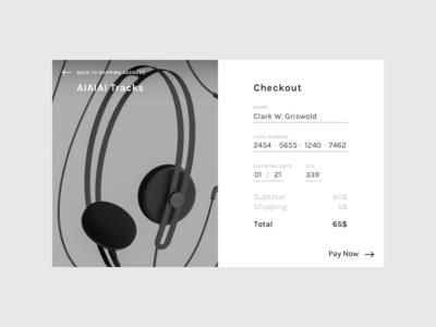 DailyUI 002 / Credit Card Checkout dailyui checkout credit card creditcard minimal