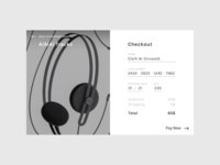 DailyUI 002 / Credit Card Checkout
