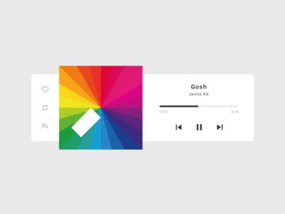DailyUI 009 / Music Player app mac dailyui minimal ui musicplayer music player minimalism