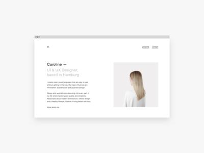 My portfolio is now online. screendesigner designer ui ux website portfolio