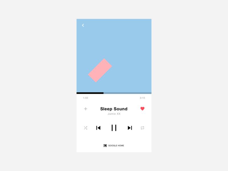 Daily UI / Music Player ios mobile ui minimal music player dailyui daily ui
