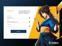 #001 Sign Up Screen