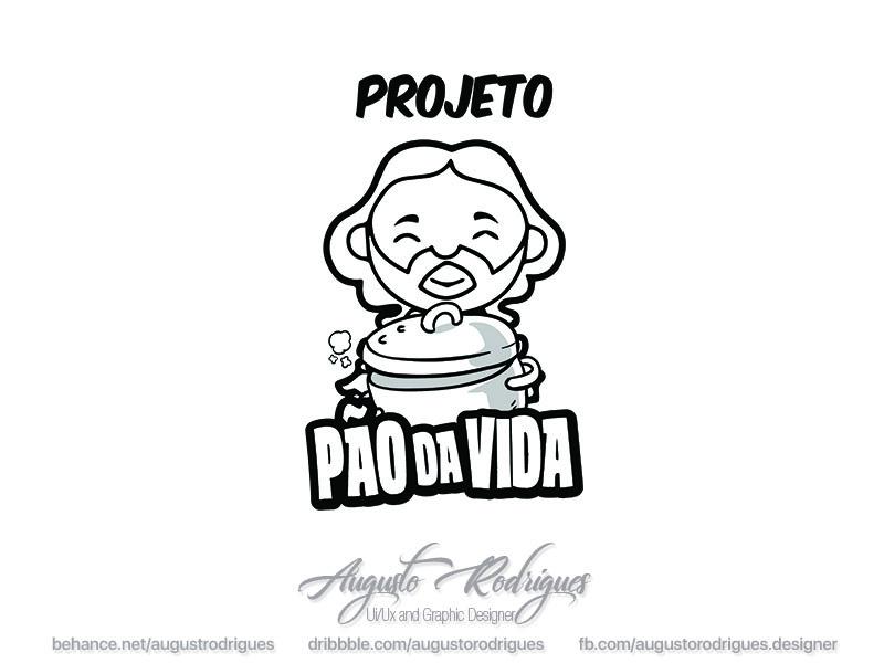 Project Pão da vida Logo logo tshirt jesus serigraphy draw