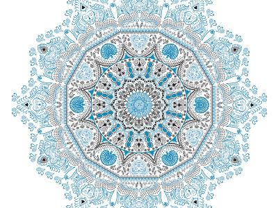 Traditional Mandala art Design vector design illustration