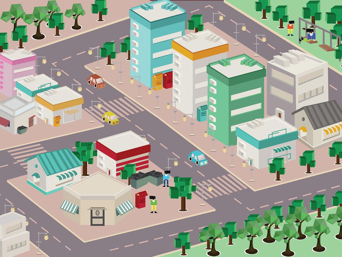 City Life Concept Art