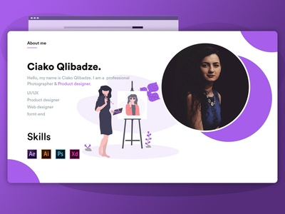 About Me Designs Themes Templates And Downloadable Graphic Elements On Dribbble