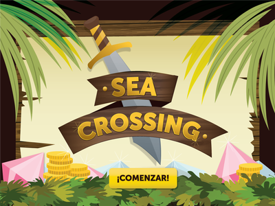 Sea Crossing Game interfase responsive adventure game design ui ux