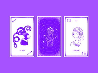 Tarot App html5 javascript jquery ui creative character illustration violet app tarot css