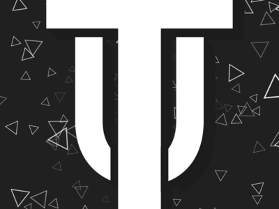 uTopic - Logo after effects flat typography typo white black triangles