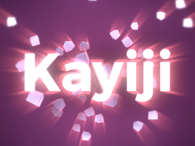 Kayiji's Logo typography typo logo ae after effects adobe after effects particular