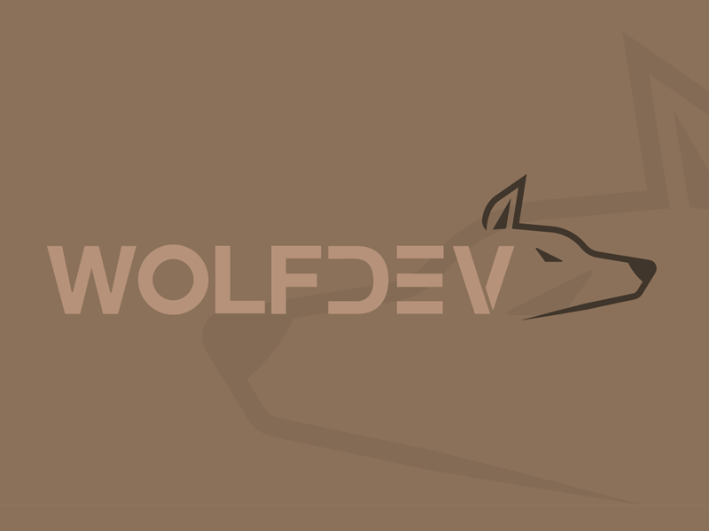 Wolfdev branding design flat illustration vector typo logo typography wolf logo wolf