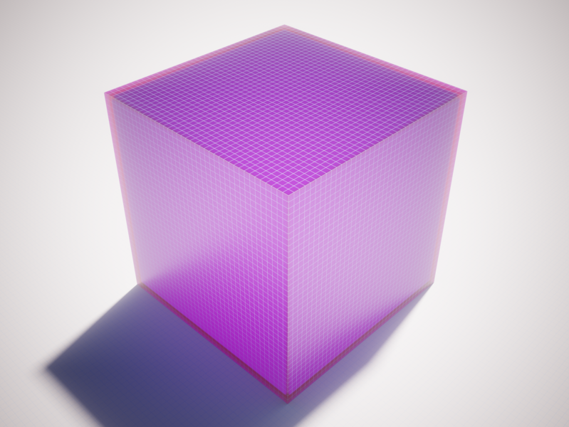 Grid Cube magica voxel magicavoxel ambient occlusion shaders grid shape cube voxel 3d