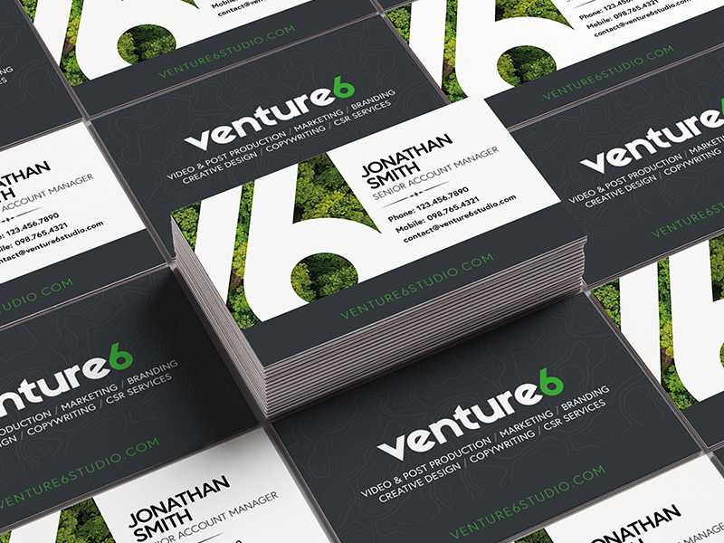 Agency Business Cards illustrator print agency sustainability green business cards