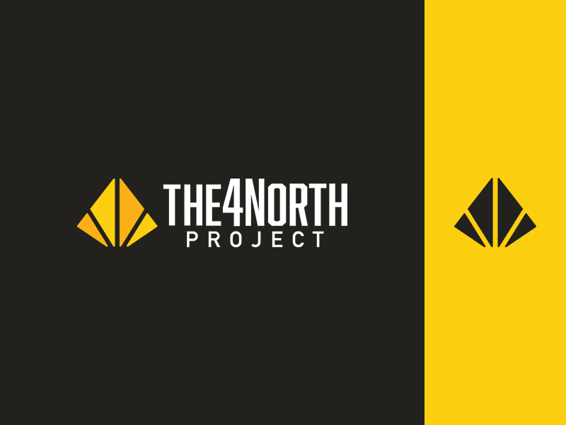 The 4North Project - Identity empowerment education security sustainability project 4north nonprofit identity logo branding