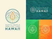 Sustainabile Agriculture Hawai'i Logo illustration illustrator design vector branding design branding nonprofit sustainability farming agriculture hawaii identity logodesign logotype logo