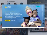 Redesign - The 4North Project design branding website donate charity sketch ui design nonprofit web design ui redesign