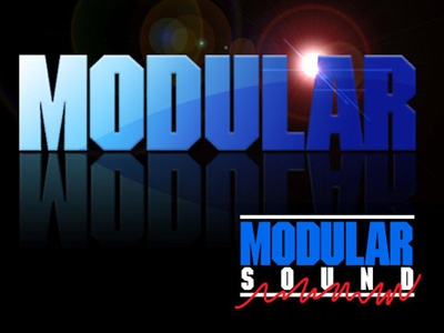 Modular Sound Reinforcement Logo modular concert typography music sound