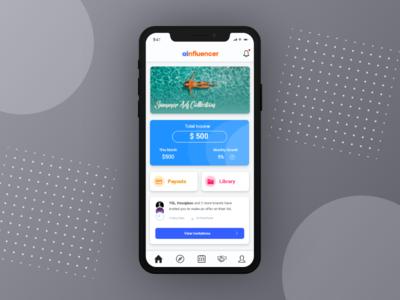 Dashboard - AInfluencer (Instagram Marketplace) influencer dashboard design dashboard app dashboard dashboard ui dashboad