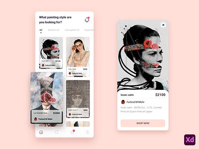 Painting e-commerce - Mobile App buy sell paintings e-commerce app ecommerce painting