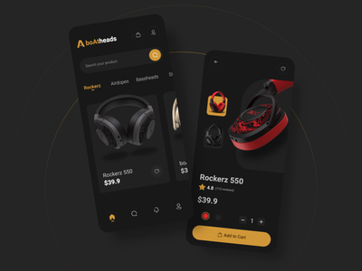 boAtheads - Headphone Store App music shopping shop sell buy ecommerce store app