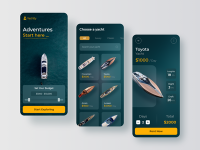 Yacht Booking Service Application app rental app sailboat boat ship travel rent sailor yachting ecomerce booking yacht