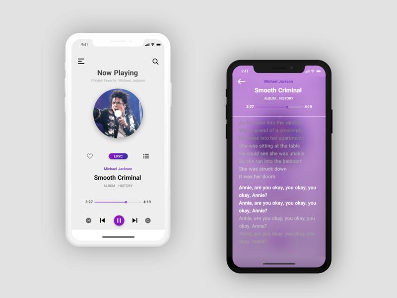 Music Player music app mobile app design lyrics lyric music player music player ui music mobile app design ui