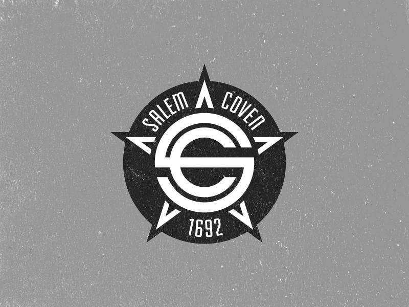 Salem Coven Crest white black football logo crest soccer
