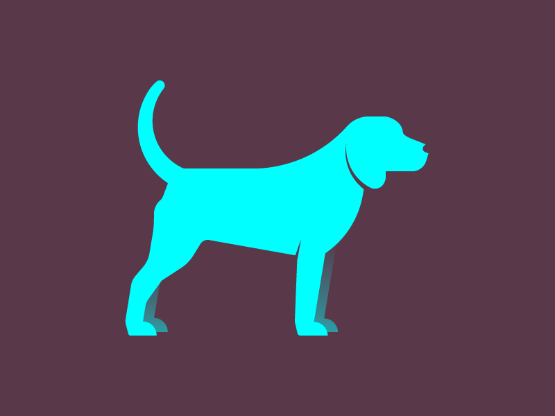 It Is Dog modern profile animal simple minimal illustration dog