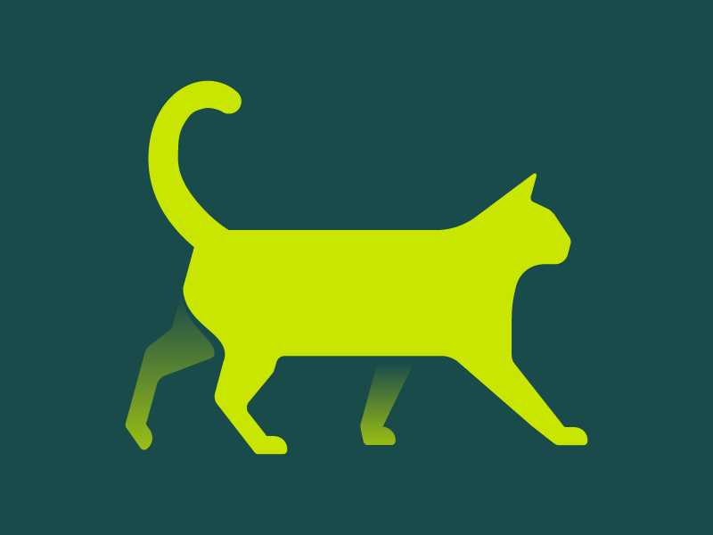 And A Cat Too simple green minimal illustration cat