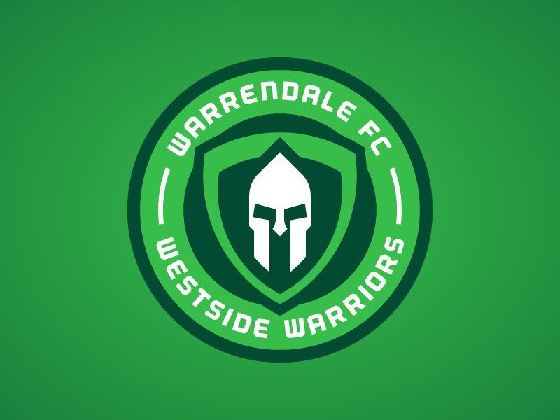 Warrendale FC - Crest 2 green patch emblem crest badge soccer