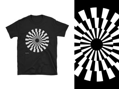 Optical Tees - Checkered Circle