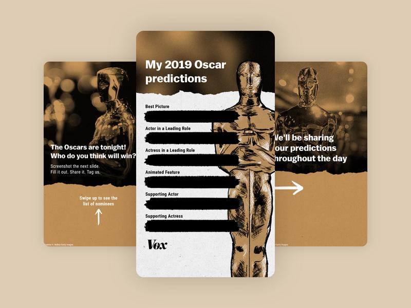 Oscars Predictions Instagram Story academy awards oscars instagram story instagram illustration
