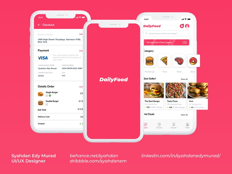 Dailyfood UI #2 design portfolio mockup app user experience user interface ux ui