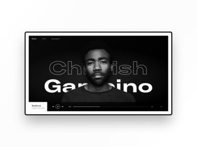 Childish Gambino. Concept web page