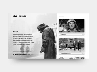 Webpage HBO - Chernobyl