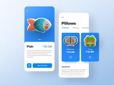 Pillow shop 😴 - concept application