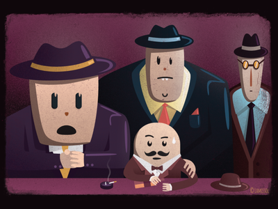 Hercule Poirot Meets Film Noir