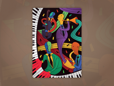 Jazz Band bass cello vector trumpet tie suit sax piano musician music band  bass  cello  jazz
