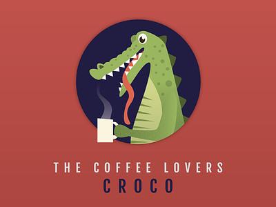 CROCO cup reptile hot crocodile tongue coffee drink alligator