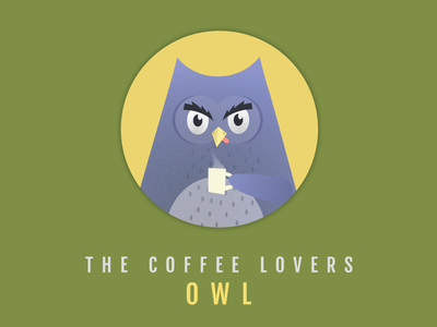 OWL feathers tongue bird hot drink cup coffee owl