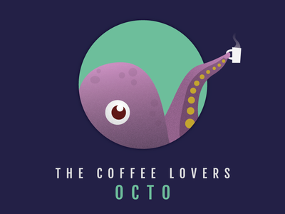 OCTO tentacle drink circle round animal marine octopus hot coffee