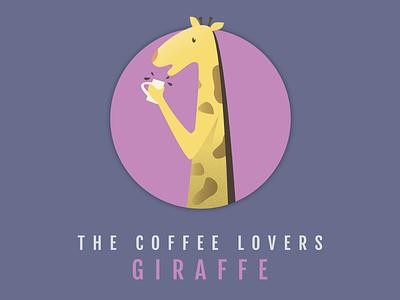 GIRAFFE spots yellow hot drink coffee circle round animal giraffe