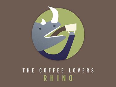 RHINO round circle hot drink coffee animal rhinoceros rhino
