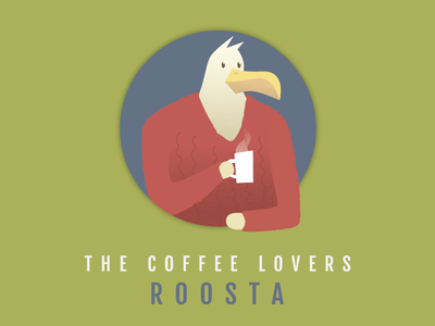 ROOSTA round circle mug cup hot sweater feather beak coffee bird rooster