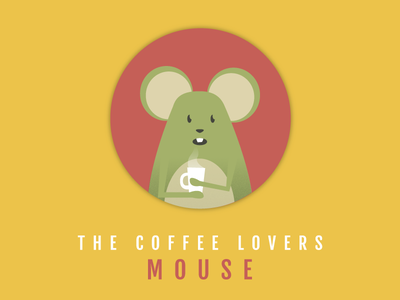 MOUSE round circle animal hot mug cup coffee mouse
