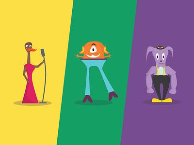 The Farago - Characters cartoon unity duck singer platformer monsters game adventure 2d