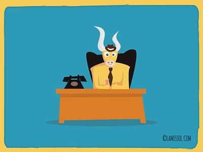 The Farago - Character  cartoon unity horns platformer phone telephone desk bull game adventure 2d